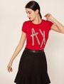 ARMANI EXCHANGE STUD TAPE LOGO TEE Logo T-shirt Woman f