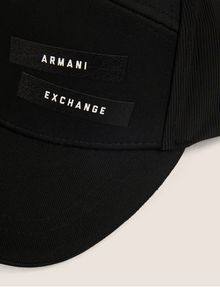 ARMANI EXCHANGE PEBBLED PATCH LOGO HAT Hat [*** pickupInStoreShippingNotGuaranteed_info ***] d