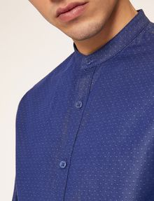 ARMANI EXCHANGE REGULAR FIT BAND COLLAR DOT SHIRT Printed Shirt Man b