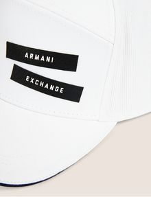 ARMANI EXCHANGE PEBBLED PATCH LOGO HAT Hat Man d