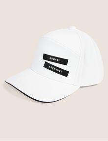 ARMANI EXCHANGE PEBBLED PATCH LOGO HAT Hat Man f