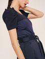 ARMANI EXCHANGE RUFFLE SLEEVE SCOOPNECK TOP S/S Knit Top Woman b