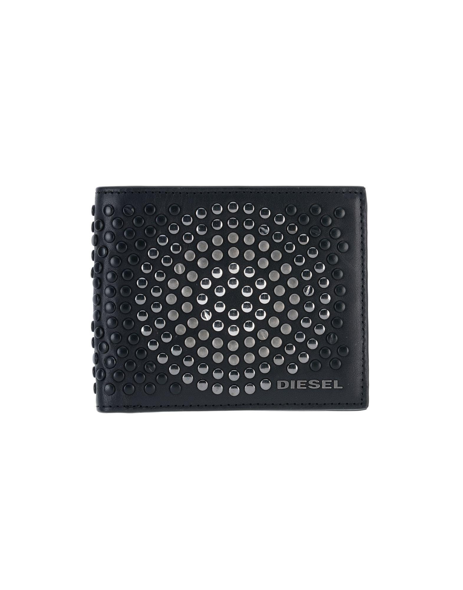 《送料無料》DIESEL メンズ 財布 ブラック 牛革 100% / 亜鉛 / 銅