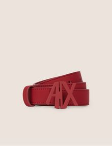 ARMANI EXCHANGE MATTE ANGLED CUTOUT LOGO BELT Belt Woman f