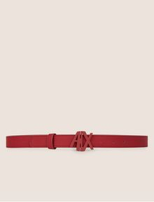 ARMANI EXCHANGE MATTE ANGLED CUTOUT LOGO BELT Belt Woman r