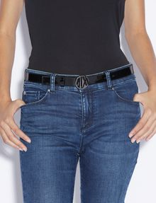 ARMANI EXCHANGE PATENT CIRCLE LOGO BUCKLE BELT Belt Woman r