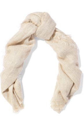BRUNELLO CUCINELLI Frayed mohair-blend scarf