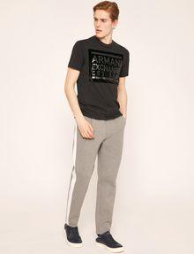 ARMANI EXCHANGE FLOCKED TONAL LOGO TEE Logo T-shirt Man d