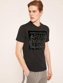 ARMANI EXCHANGE FLOCKED TONAL LOGO TEE Logo T-shirt Man f