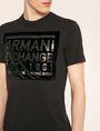 ARMANI EXCHANGE FLOCKED TONAL LOGO TEE Logo T-shirt Man b