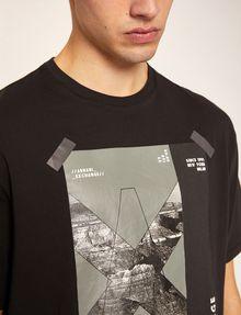ARMANI EXCHANGE TACTICAL TAPE LOOSE LOGO TEE Graphic T-shirt Man b