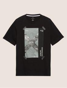 ARMANI EXCHANGE TACTICAL TAPE LOOSE LOGO TEE Graphic T-shirt Man r