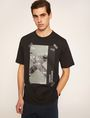 ARMANI EXCHANGE TACTICAL TAPE LOOSE LOGO TEE Graphic T-shirt Man f