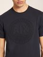 ARMANI EXCHANGE DEBOSSED ROUND LOGO TEE Logo T-shirt Man b