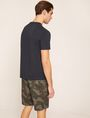 ARMANI EXCHANGE DEBOSSED ROUND LOGO TEE Logo T-shirt Man e