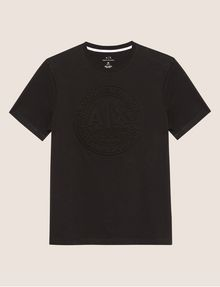 ARMANI EXCHANGE DEBOSSED ROUND LOGO TEE Logo T-shirt Man r