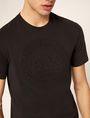 ARMANI EXCHANGE DEBOSSED ROUND LOGO TEE Logo T-shirt Man b