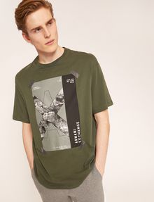 ARMANI EXCHANGE TACTICAL TAPE LOOSE LOGO TEE Graphic T-shirt Man a