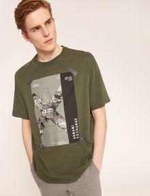 ARMANI EXCHANGE TACTICAL TAPE LOOSE LOGO TEE Logo T-shirt Man a
