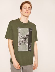 ARMANI EXCHANGE TACTICAL TAPE LOOSE LOGO TEE Logo T-shirt Man f