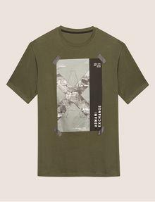 ARMANI EXCHANGE TACTICAL TAPE LOOSE LOGO TEE Logo T-shirt Man r