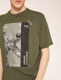 ARMANI EXCHANGE TACTICAL TAPE LOOSE LOGO TEE Graphic T-shirt Man b