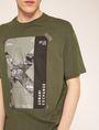 ARMANI EXCHANGE TACTICAL TAPE LOOSE LOGO TEE Logo T-shirt Man b