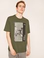 ARMANI EXCHANGE TACTICAL TAPE LOOSE LOGO TEE Graphic T-shirt Man f