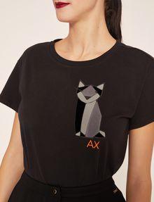 ARMANI EXCHANGE GEO CAT LOGO TEE Non-logo Tee Woman b