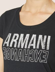 ARMANI EXCHANGE T-SHIRT MIT USED- UND UMGEDREHTEM LOGO Logo-T-Shirt [*** pickupInStoreShipping_info ***] b