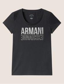 ARMANI EXCHANGE T-SHIRT MIT USED- UND UMGEDREHTEM LOGO Logo-T-Shirt [*** pickupInStoreShipping_info ***] r