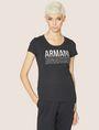 ARMANI EXCHANGE T-SHIRT MIT USED- UND UMGEDREHTEM LOGO Logo-T-Shirt [*** pickupInStoreShipping_info ***] f