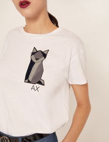 ARMANI EXCHANGE GEO CAT LOGO TEE Graphic T-shirt Woman b