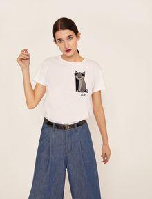 ARMANI EXCHANGE GEO CAT LOGO TEE Graphic T-shirt Woman f