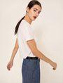 ARMANI EXCHANGE GEO CAT LOGO TEE Graphic T-shirt Woman a