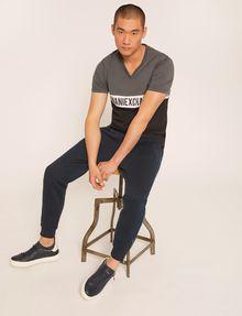 ARMANI EXCHANGE REGULAR-FIT WRAPAROUND LOGO V-NECK Logo T-shirt Man a