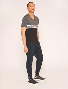 ARMANI EXCHANGE REGULAR-FIT WRAPAROUND LOGO V-NECK Logo T-shirt Man d