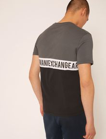 ARMANI EXCHANGE REGULAR-FIT WRAPAROUND LOGO V-NECK Logo T-shirt Man e
