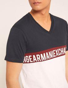 ARMANI EXCHANGE REGULAR-FIT WRAPAROUND LOGO V-NECK Logo T-shirt Man b