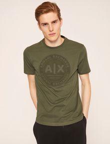 ARMANI EXCHANGE DEBOSSED ROUND LOGO TEE Logo T-shirt Man f
