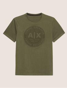 ARMANI EXCHANGE DEBOSSED ROUND LOGO TEE Logo T-shirt Man r