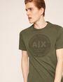 ARMANI EXCHANGE DEBOSSED ROUND LOGO TEE Logo T-shirt Man a