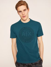 ARMANI EXCHANGE DEBOSSED ROUND LOGO TEE Logo T-shirt Man f