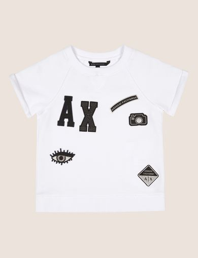 GIRLS LOGO PATCH RAGLAN TOP
