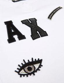 ARMANI EXCHANGE GIRLS LOGO PATCH RAGLAN TOP Graphic T-shirt Woman d