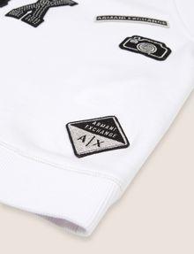 ARMANI EXCHANGE GIRLS LOGO PATCH RAGLAN TOP Graphic T-shirt Woman e