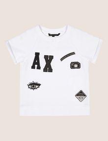 ARMANI EXCHANGE GIRLS LOGO PATCH RAGLAN TOP Graphic T-shirt Woman f