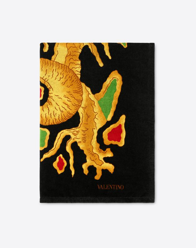 Beach towel with DRAGON RE-EDITION 1968 print