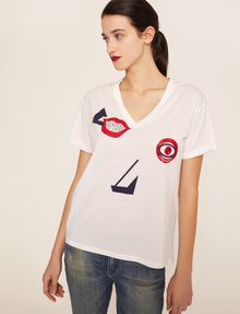 ARMANI EXCHANGE ABSTRACT FACE LOGO TEE Graphic T-shirt [*** pickupInStoreShipping_info ***] f