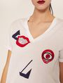 ARMANI EXCHANGE ABSTRACT FACE LOGO TEE Graphic T-shirt Woman b